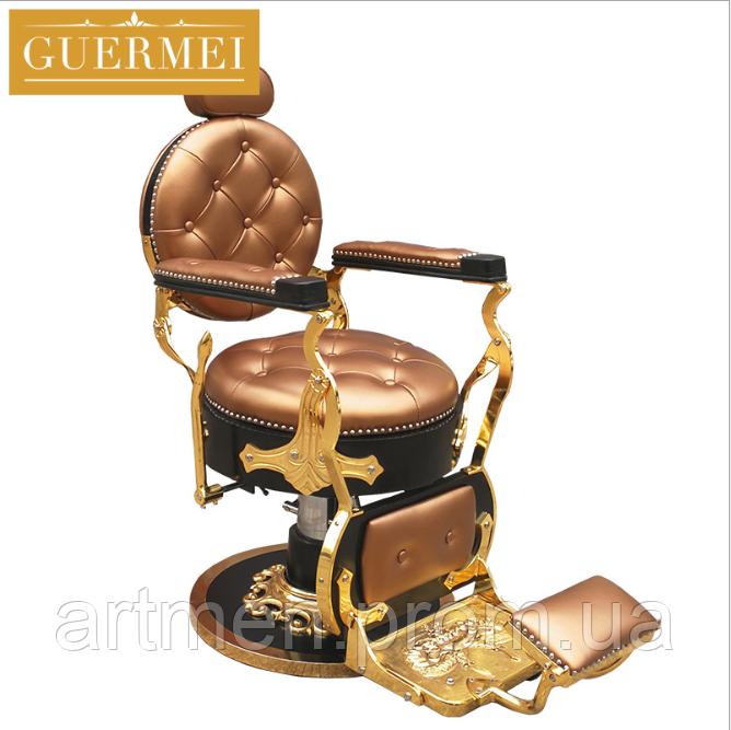 """Мужское парикмахерское кресло """"Guermei Bronze"""""""