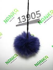 Меховой помпон Кролик, Фиолет, 7 см, 13905, фото 2