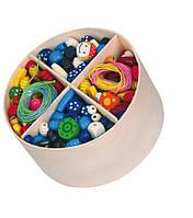 Набор Viga Toys Деревянные бусинки (56002)