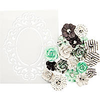 Квіти+трафарет - Minty Sprinkles - Flirty Fleur - Prima Marketing