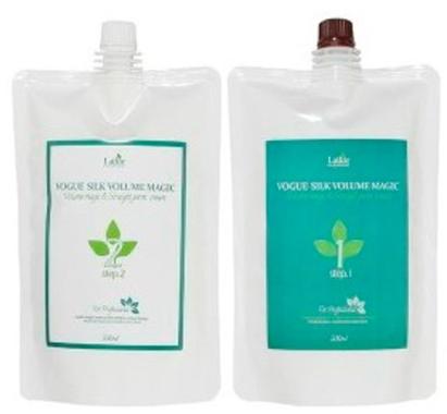 Средство для домашнего ламинирования и выпрямления волос Vogue Silky Magic Straight Perm Lador - 500 + 500 мл