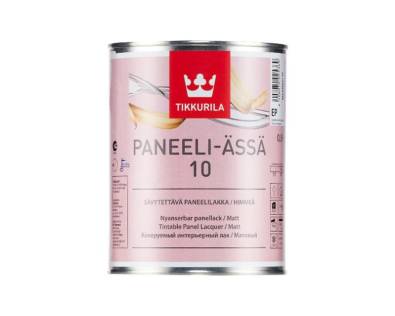 Лак акриловый TIKKURILA PANEELI-ÄSSÄ 10 панельный матовый 0,9л
