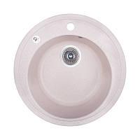 Кухонная гранитная мойка  круглая (ø510 мм), одночашевая, цвет белый (GFSTO10D510200)