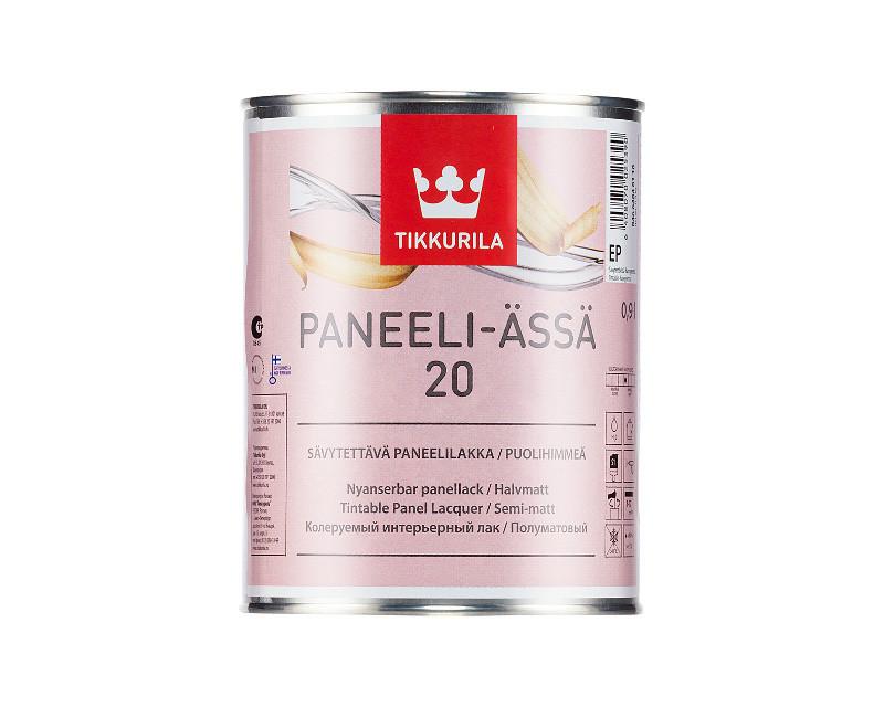 Лак акриловый TIKKURILA PANEELI-ÄSSÄ 20 панельный полуматовый 0,9л