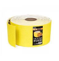 Шлифовальная шкурка на бумажной основе 115ммх50м, К120 Polax