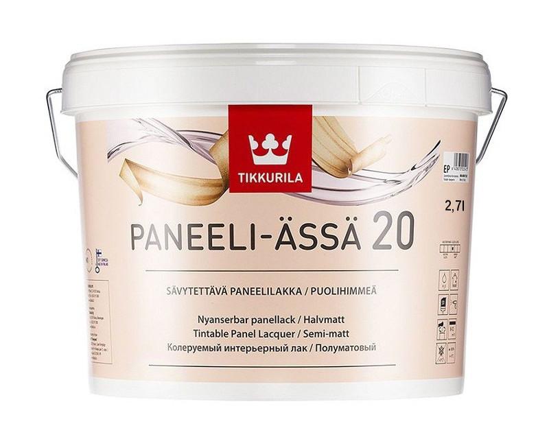 Лак акриловый TIKKURILA PANEELI-ÄSSÄ 20 панельный полуматовый  2,7л