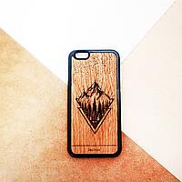 Чехол деревянный для Iphone 6 6s 7 7s 8 8s X Mountain 26ec8fafa89fc