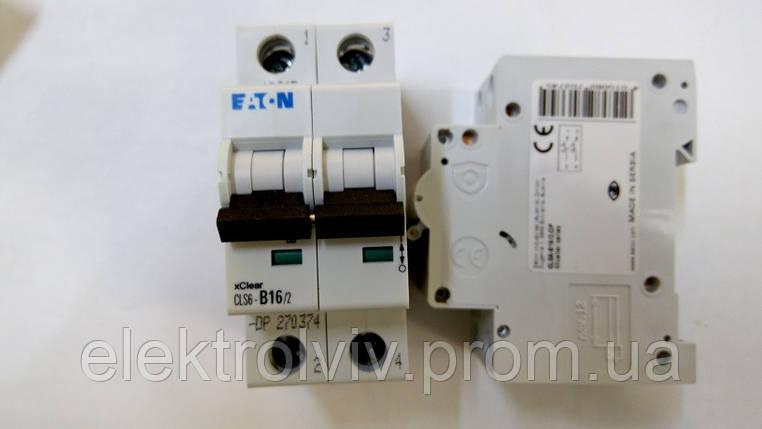 Автоматический выключатель Eaton CLS6-B16/2-DP, фото 2