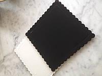 Подложка под торт квадратная черная, картонная подложка для кондитерских изделий
