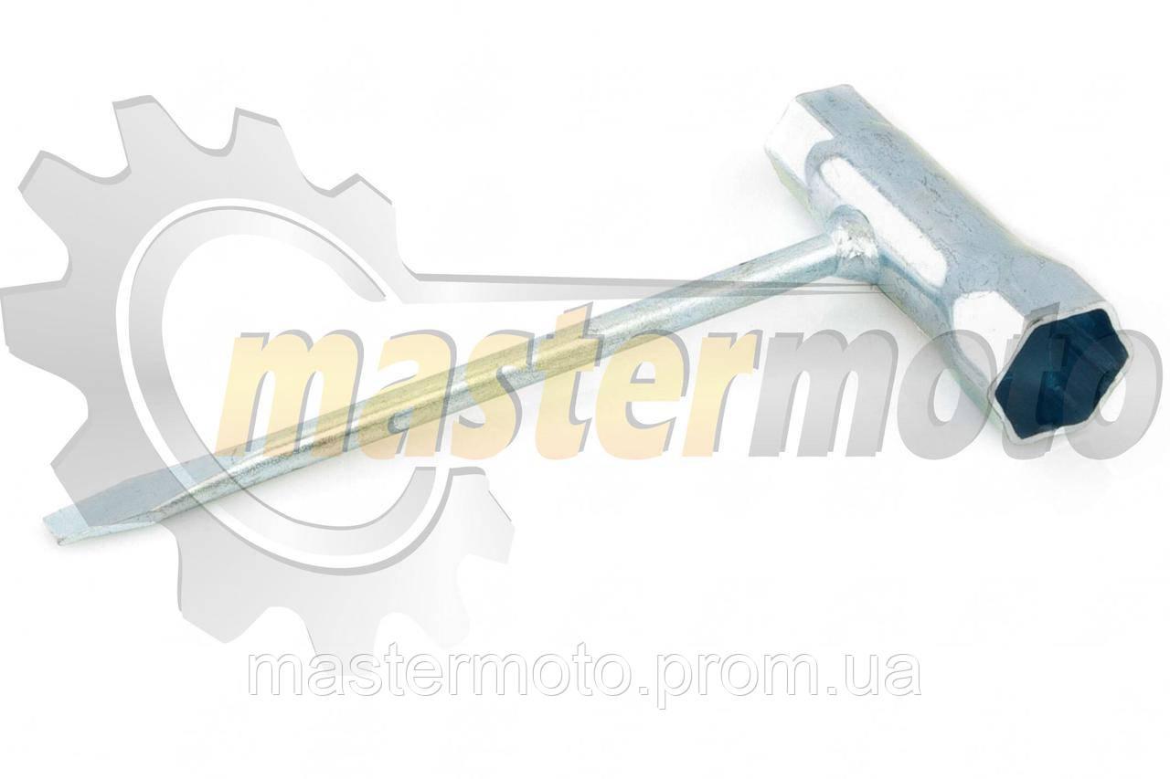 Ключ свечной комбинированный для бензопилы, 19х13 мм