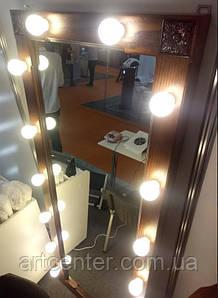 Зеркало с лампочками, зеркало в деревянной раме