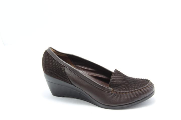 Туфли женские мокасины коричневые Norka 163-24-39