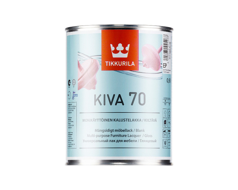 Лак акриловый TIKKURILA KIVA 70 мебельный глянцевый 0,9л