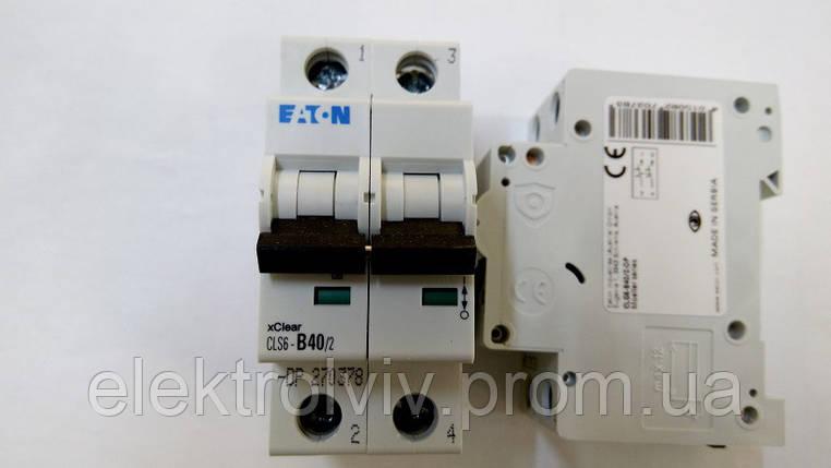 Автоматический выключатель Eaton CLS6-B40/2-DP, фото 2