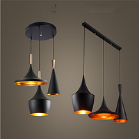 Тройной светильник в стиле лофт 7756-3 (,черный,серый,