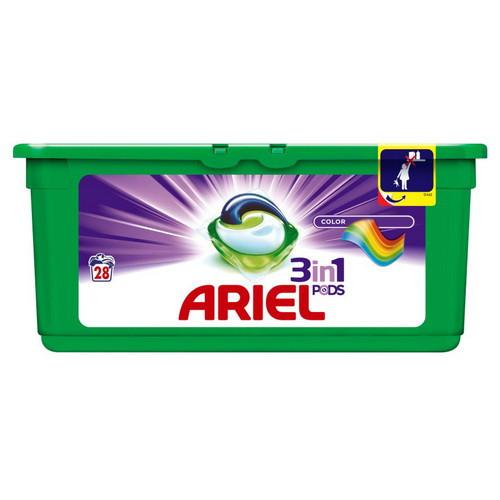 Капсулы для стирки ARIEL 3 в 1 Color 28 шт