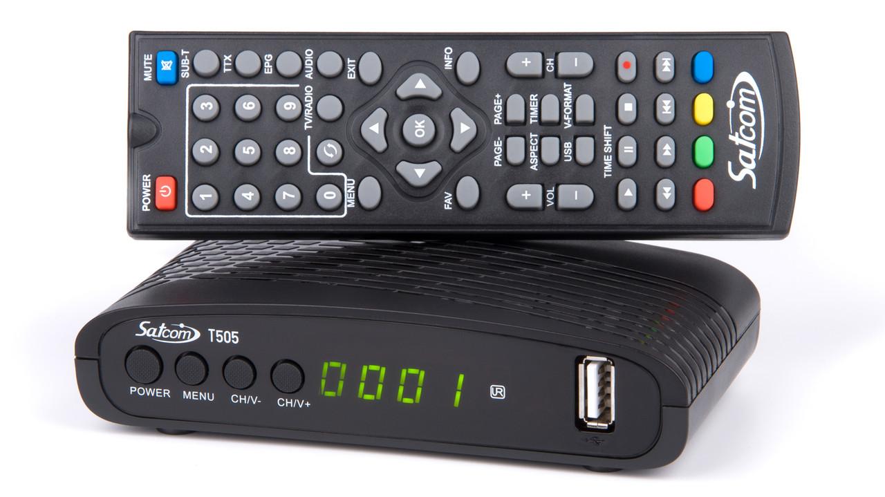 Цифровой тюнер DVB-T/T2 SatCom T505 T2+INTERNET