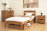 Кровать односпальная «Лика» без изножья с ящиками (80*190) Олимп
