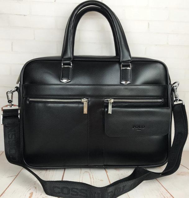 Чоловіча сумка-портфель Polo для документів формат А4. Стильні мужчкие сумки. Чоловіча якісна сумка.