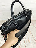 Мужская сумка-портфель Polo для документов формат А4. Стильные мужчкие сумки. Мужская качественная сумка., фото 4