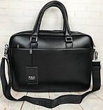 Мужская сумка-портфель Polo для документов формат А4. Стильные мужчкие сумки. Мужская качественная сумка., фото 5