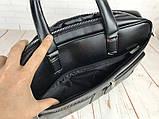 Чоловіча сумка-портфель Polo для документів формат А4. Стильні мужчкие сумки. Чоловіча якісна сумка., фото 7