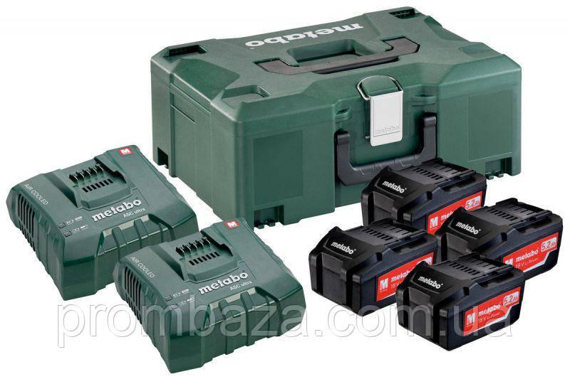 Базовый комплект Metabo 4x5.2 Ач, 18 В 2xASC Ultra + MetaLoc