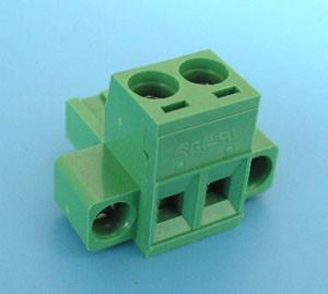 ETB42020G000 Клеммник разрывной 2 контакта на провод с креплением, 300В 10A шаг 5,08 мм