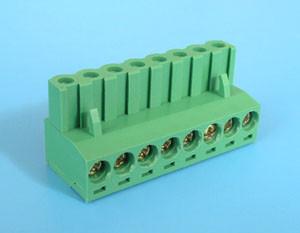 ETB81080G000 Клеммник разрывной 8 контактов на провод,  300В 10A шаг 5,0 мм