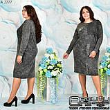 Стильное коттоновое платье большого размера  54-56.58-60, фото 4