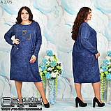 Стильное коттоновое платье большого размера  54-56.58-60, фото 2