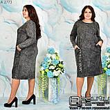 Стильное коттоновое платье большого размера  54-56.58-60, фото 6