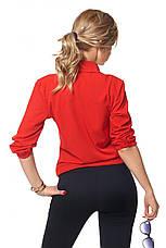 Офисная нарядная женская блуза декорированная бусинками, фото 3