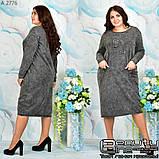 Стильное коттоновое платье большого размера  54-56.58-60, фото 8