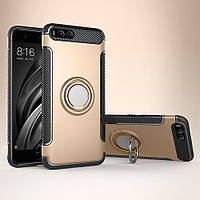 Чехол для смартфона Xiaomi Mi 6, бампер с подставкой, RM Armor, золото