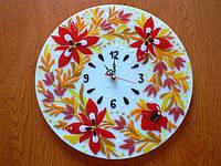 """Часы """"Осенние цветы"""""""
