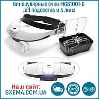 Бинокулярные лупы очки MG81001-G (1,2x-6x) c Led подсветкой