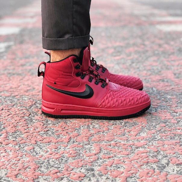 Nike Lunar Force 1 Duckboot 17 Wine Red/Black, Реплика ААА