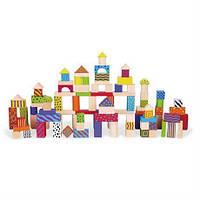 Набор строительных блоков Viga Toys 100 шт., 3 см (59696)