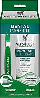 Ветc Бест Vet`s best Dental Care kit ветеринарный набор для чистки зубов гель 103 мл + зубная щетка