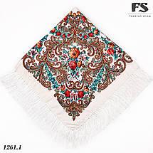 Павлопосадский платок Цветочное вдохновение, фото 2
