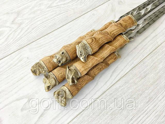 Шампура из дуба в виде бараньего рога