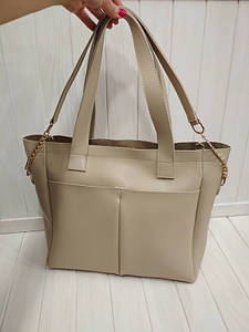 Женская сумка с двумя ручками и карманами 31*31*13 см