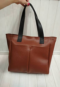 Стильная женская сумка с двумя ручками и карманами 31*31*13 см