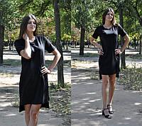 Прямое платье ассиметричного кроя