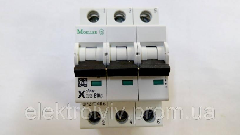 Автоматический выключатель Eaton CLS6-B10/3-DP