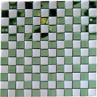 Зеркальная мозаика от производителя Зеленый+Сатин