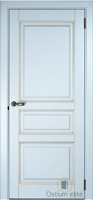 межкомнатные двери Ostium Elite белый супермат патина золото