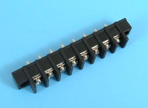 ETB5302108 Клеммник 8 контактов на плату с креплением, 300В 20А шаг 10,0мм