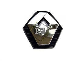 Эмблема Renault Clio в черном корпусе на штифте (l-100мм, h-110мм, s-12мм+15мм штифт)